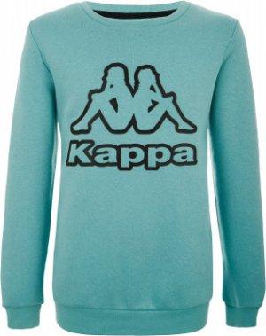Свитшот для девочек , размер 140 Kappa. Цвет: синий