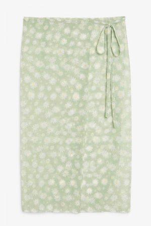 Парео из полупрозрачного материала Monki. Цвет: зеленый, разноцветный