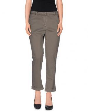 Джинсовые брюки-капри BRIAN DALES. Цвет: свинцово-серый