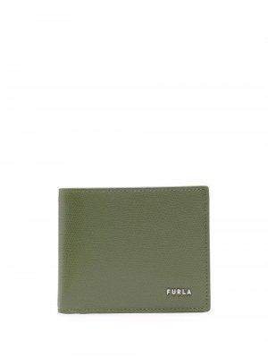 Кошелек с логотипом Furla. Цвет: зеленый