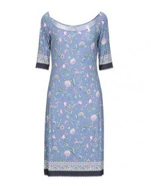 Короткое платье DOMANI. Цвет: пастельно-синий