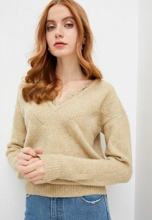 Пуловер Naf. Цвет: бежевый