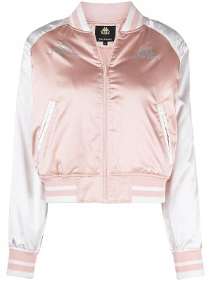 Куртка-бомбер с кристаллами из коллаборации Juicy Couture Kappa. Цвет: розовый