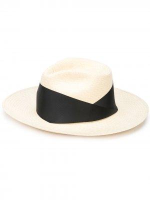 Шляпа-федора с лентой THE FREYA BRAND. Цвет: нейтральные цвета