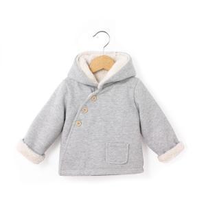Пальто с капюшоном, зимняя модель, 0 мес. - 3 года LA REDOUTE COLLECTIONS. Цвет: серый меланж