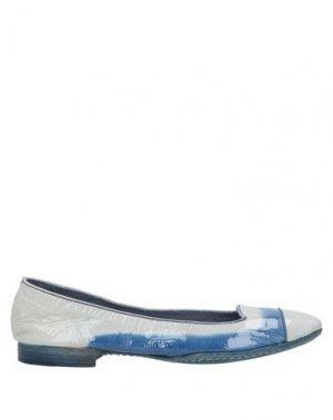 Балетки ALBERTO FASCIANI. Цвет: синий