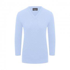 Кашемировый пуловер Giorgio Armani. Цвет: синий
