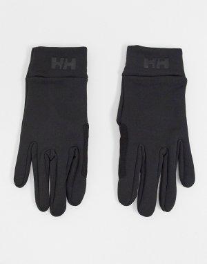 Черные флисовые перчатки для сенсорных экранов -Черный Helly Hansen