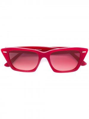 Солнцезащитные очки кошачий глаз Ingrid Acne Studios. Цвет: красный