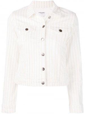 Джинсовая куртка Courtyard FRAME. Цвет: белый
