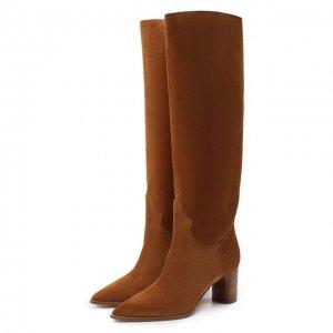 Замшевые сапоги Casadei. Цвет: коричневый