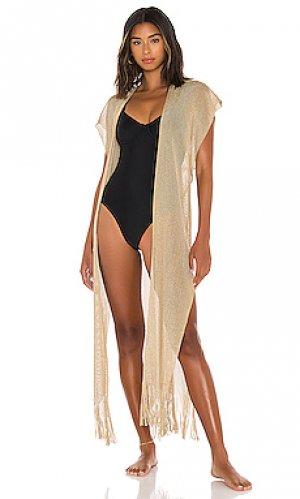 Макси платье golden Luli Fama. Цвет: беж