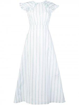 Платье в полоску Calvin Klein 205W39nyc. Цвет: белый