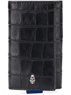 Футляр для ключей с три сложения Alexander McQueen. Цвет: черный