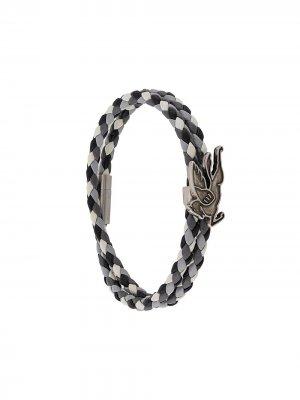 Плетеный браслет Etro. Цвет: белый