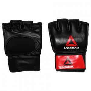 Перчатки Combat Leather MMA - размер L Reebok. Цвет: black / black / red