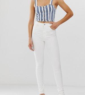 Белые джинсы скинни из органического хлопка с завышенной талией -Белый Monki