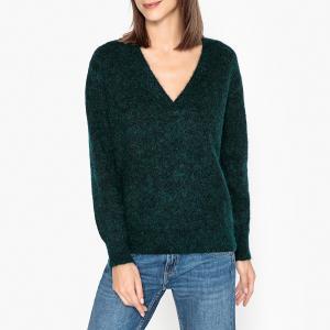 Пуловер с V-образным вырезом из шерсти и мохера GIBSENE HARRIS WILSON. Цвет: зеленый