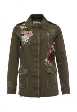 Куртка джинсовая River Island. Цвет: зеленый