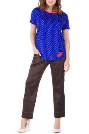 Блуза-футболка Artwizard. Цвет: белый