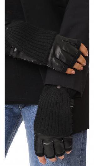 Leather & Cashmere Gloves Carolina Amato