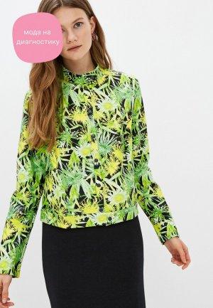 Куртка кожаная Adzhedo. Цвет: зеленый