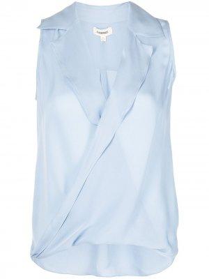 LAgence блузка без рукавов L'Agence. Цвет: синий