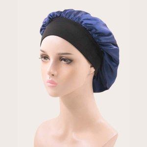 Шапочка для волос минималистичный SHEIN. Цвет: темно-синий