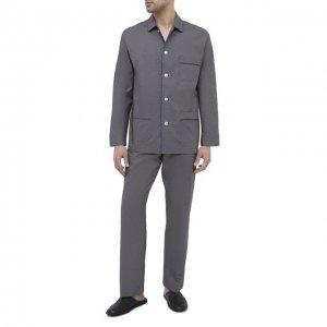 Хлопковая пижама Roberto Ricetti. Цвет: синий