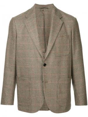 Костюмный пиджак в клетку United Arrows. Цвет: коричневый
