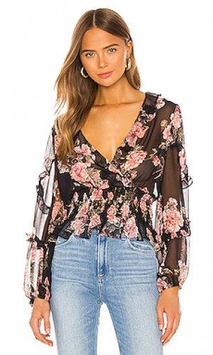 Блузка blake Bardot. Цвет: черный