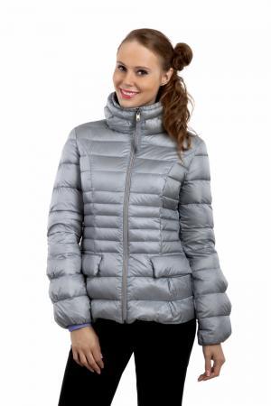 Куртка Just Valeri. Цвет: серебристый