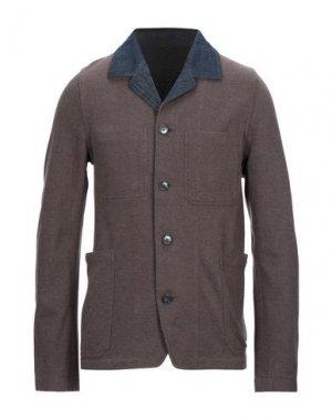 Пиджак CARE LABEL. Цвет: темно-коричневый