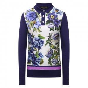 Поло из кашемира и шелка Dolce & Gabbana. Цвет: разноцветный
