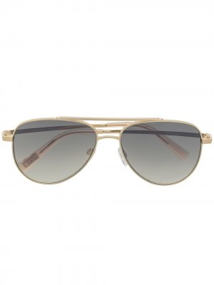 Солнцезащитные очки-авиаторы Evermore Le Specs. Цвет: золотистый