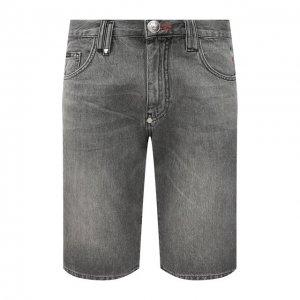 Джинсовые шорты Philipp Plein. Цвет: серый