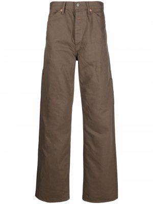 Широкие джинсы средней посадки Heron Preston for Calvin Klein. Цвет: коричневый