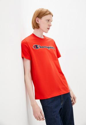 Футболка Champion ROCHESTER Logo Crewneck T-Shirt. Цвет: красный