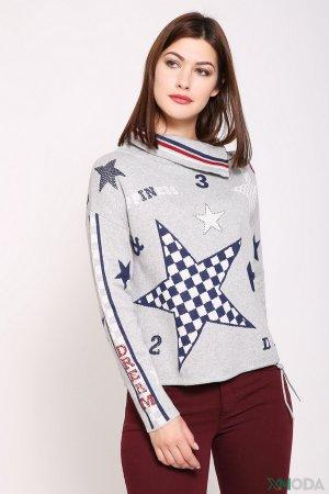 Пуловер Oui. Цвет: разноцветный