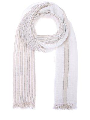 Льняной шарф Baldessarini. Цвет: разноцветный