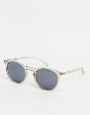 Серые круглые солнцезащитные очки -Серый Jack & Jones