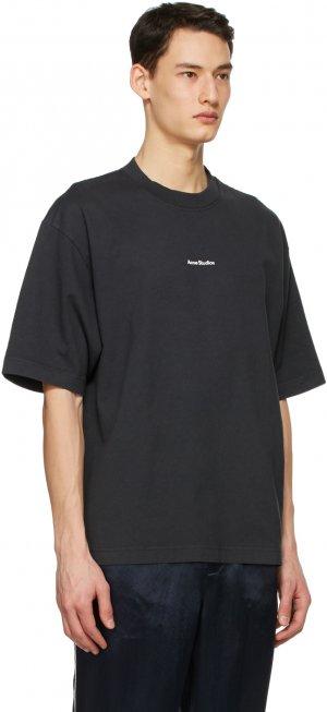 Black Printed T-Shirt Acne Studios. Цвет: black