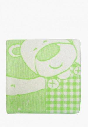 Одеяло детское Arloni 100х140. Цвет: зеленый