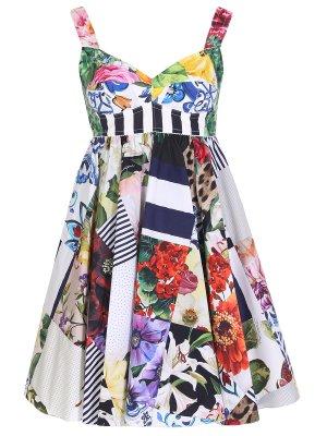 Платье хлопковое с принтом DOLCE & GABBANA
