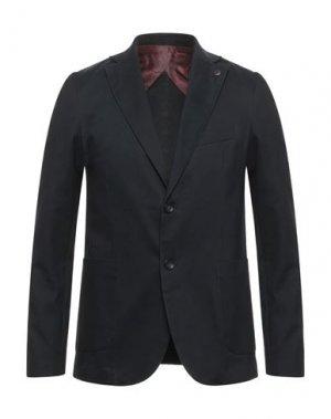 Пиджак BESILENT. Цвет: темно-синий