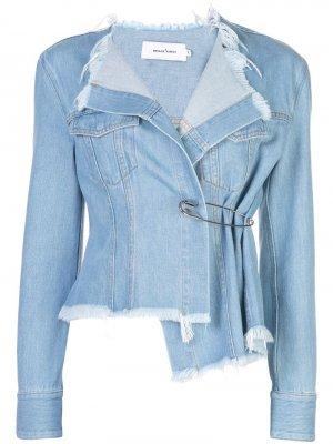 Приталенная джинсовая куртка Marques'Almeida. Цвет: синий