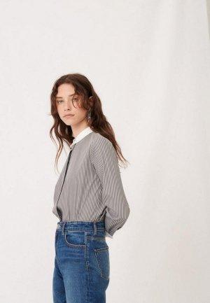 Рубашка Maje. Цвет: серый