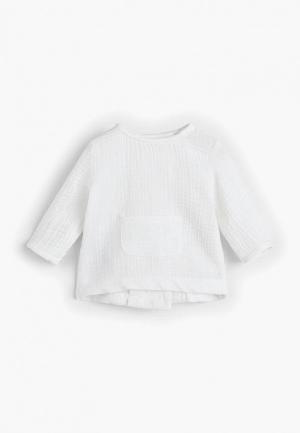 Рубашка Mango Kids - FLIS. Цвет: белый