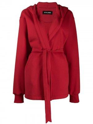 Куртка оверсайз с капюшоном Styland. Цвет: красный
