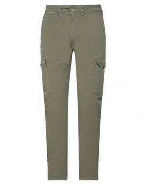 Повседневные брюки GAUDÌ. Цвет: зеленый-милитари